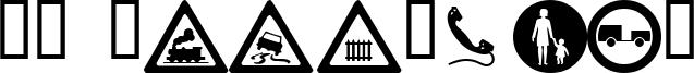 WM Roadsigns Font