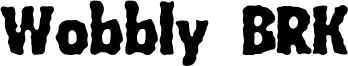 Wobbly BRK Font