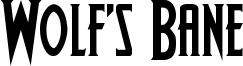 Wolf's Bane Font