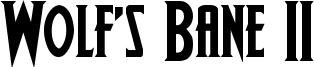 Wolf's Bane II Font