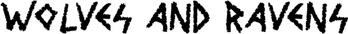 Wolves and Ravens Font