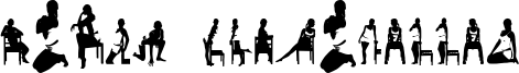 Woman Silhouettes Font