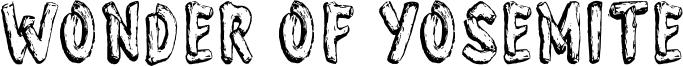 Wonder of Yosemite Font