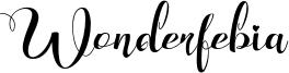 Wonderfebia Font