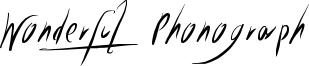 Wonderful Phonograph Font
