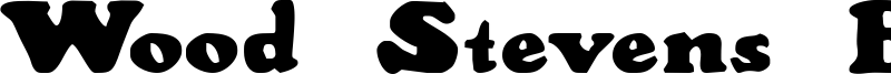 Wood Stevens Bold Font