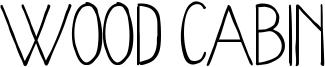 Wood Cabin Font