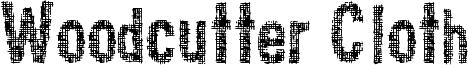 Woodcutter Cloth Font