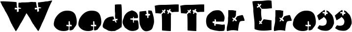 Woodcutter Cross Font