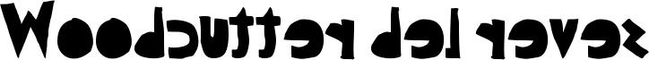 Woodcutter del reves Font