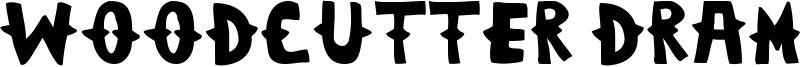 Woodcutter Dramatica Font
