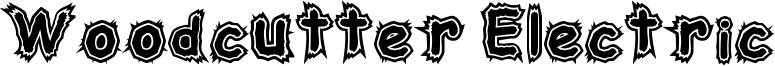 Woodcutter Electric Font
