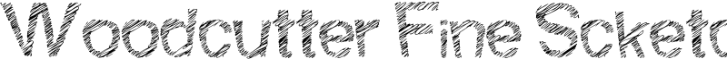 Woodcutter Fine Scketch Font