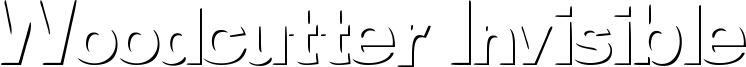 Woodcutter Invisible Font