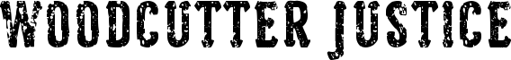 Woodcutter Justice Font