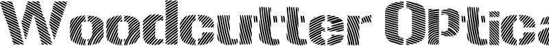 Woodcutter Optical Army Font