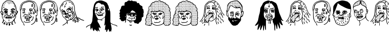 Woodcutter People Faces Font