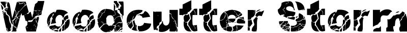 Woodcutter Storm Font