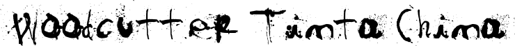 Woodcutter Tinta China Font