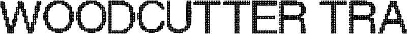Woodcutter Trama Font