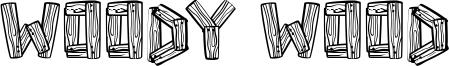 Woody Wood Font