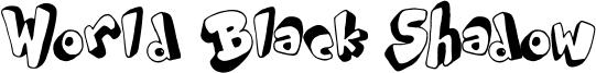 World Black Shadow Font