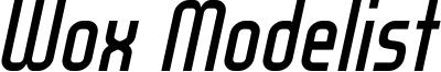 WOX_Modelist_Italic_demo.otf
