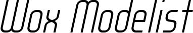 WOX_Modelist_Light_Italic_demo.otf