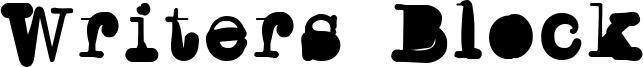 Writers Block Font
