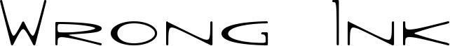 Wrong Ink Font