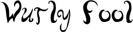 Wurly Fool Font