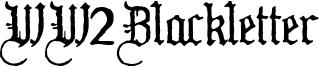 WW2Blackletter Font