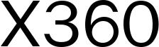 X360 Font