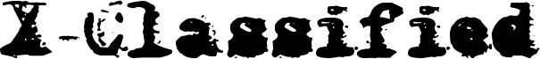 X-Classified Font