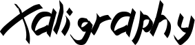 Xaligraphy Italic.ttf