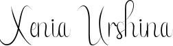 Xenia Urshina Font