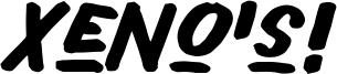 Xeno's! Font