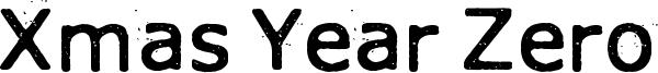 Xmas Year Zero Font