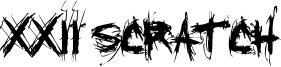 XXII Scratch Font