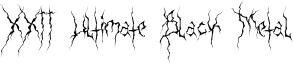 XXII Ultimate Black Metal Font