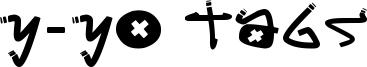 Y-Yo Tags Font