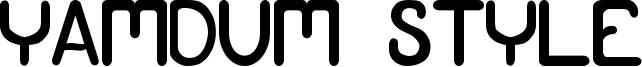 Yamdum Style Font