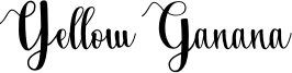 Yellow Ganana Font