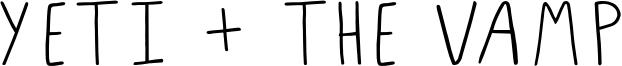 Yeti + The Vamp Font