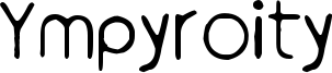 Ympyroity Font