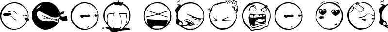 DIST Yolks Emoticons Font