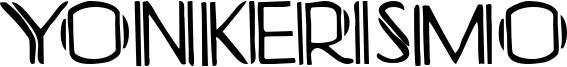 Yonkerismo Font