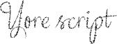 Yore script  Font