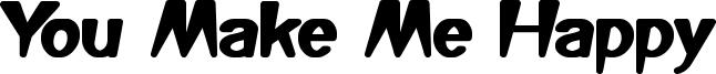 You Make Me Happy Font