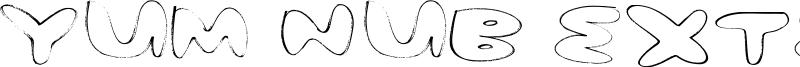 Yum Nub Extended Font